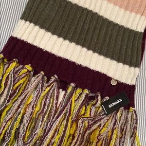 EXPRESS Color Block Knit Scarf